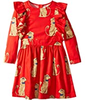 mini rodini - Spaniels Woven Ruffled Dress (Infant/Toddler/Little Kids/Big Kids)