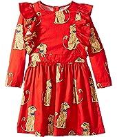 mini rodini - Spaniels Woven Ruffled Dress (Infant/Toddler/Little Kids/Big Kids)