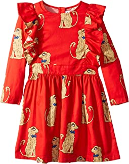 Spaniels Woven Ruffled Dress (Infant/Toddler/Little Kids/Big Kids)