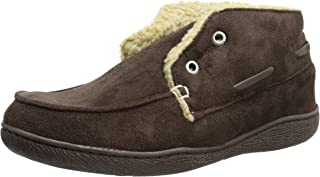 Men's Slipper Boot with Warm, Synthetic Sherpa Lining