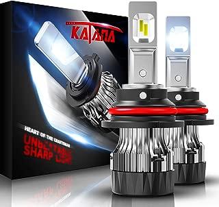 KATANA 9007 LED Headlight Bulbs w/Mini Design,10000LM 6500K Cool White CREE Chips All-in-One Conversion Kit