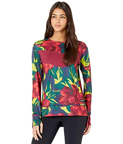 Burton Larosa Midweight Base Layer Top (Hibiscus Pink Oversized Floral) Women