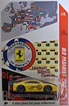 Hot Wheels Compatible Ferrari F355 Challenge Yellow Custom-Made with Real Rider Rubber Wheels Limited Edition Old Pasadena 2013 Series 1:64 Scale Collectible Die Cast Model Car.