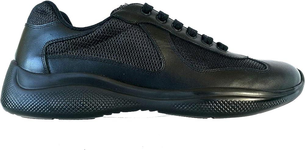 Prada scarpe sneaker uomo in nylon e pelle 4BSS04