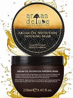 Argan Deluxe Haarmaske in Friseur-Qualität 250 ml – Haarkur mit Arganöl zur..
