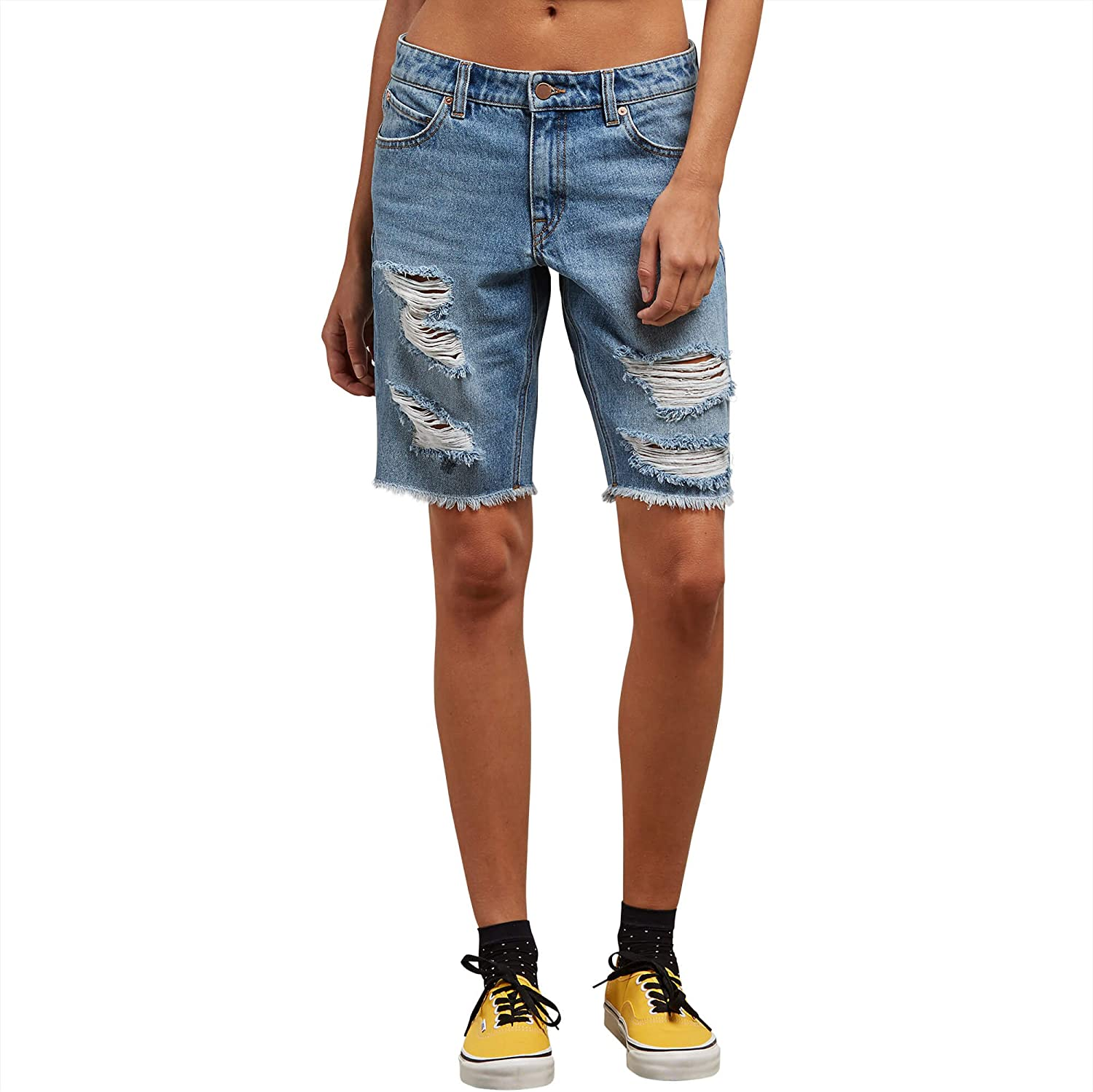 Volcom Women's Super Stoned Straight Slim Short Our shop OFFers the best service Max 40% OFF Bermuda