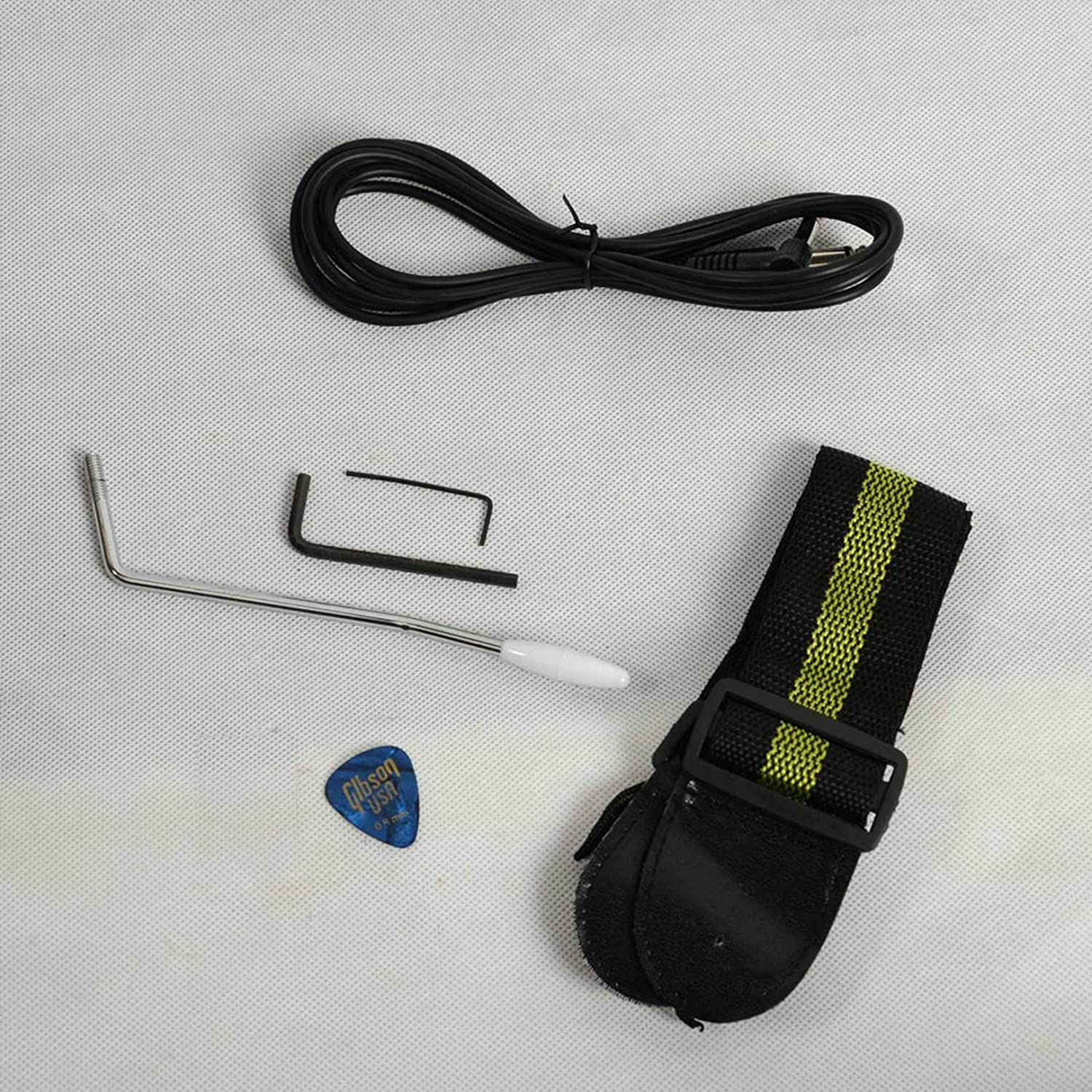 Wrench Tool Red Rocker Strap Paddle Electric Guitars for Beginner Starter Novice Flame Shaped Electric Guitar HSH Pickup Bag Cable