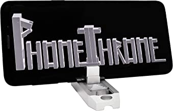 PhoneThrone - Pocket Smartphone Stand, Mount, Holder on Keychain for Travel - Many Angles - Tripod Mount - Universal Aluminum Phone Throne - Airplane & Airport Security OK