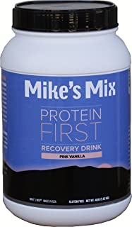 Mike's Mix Protein First Recovery Drink 4 lbs-Pink Vanilla, Real Food Product, Simple and Natural …