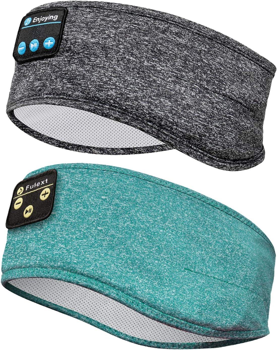 Sleep Headphones Bluetooth Headband, Perytong Sports Bluetooth Headband Headphones with Thin Speakers, Sleep Earbuds, Sleeping Headphones for Workout Running Yoga Nap, Gift for Men and Women