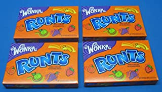 Wonka Fruit Runts Candy Theater Box Size 4 Boxes
