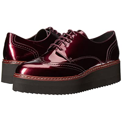 Shellys London Tommy Platform Oxford (Burgundy) Women