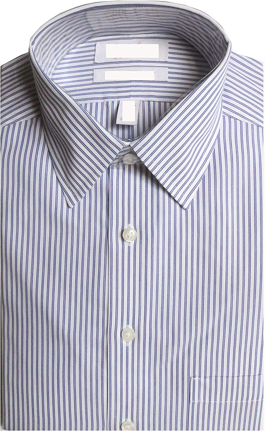 Gold Label Roundtree & Yorke Non-Iron Slim Fit Point Collar Stripe Dress Shirt G16A0106 Navy