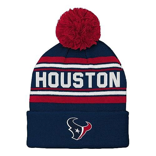 14c28c6f7198e NFL Boys Kids   Youth Boys Jacquard Cuffed Knit Hat with Pom