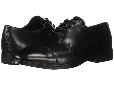 ECCO Melbourne Cap Toe Tie (Black) Men