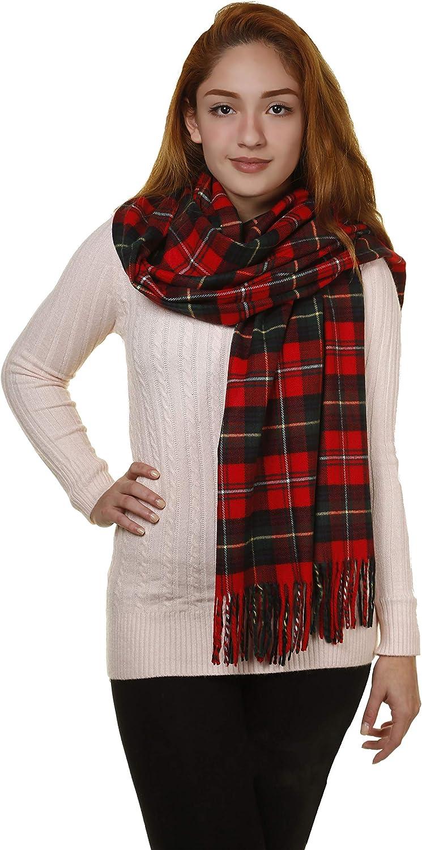 GILBIN'S Big Winter Warm Tartan Checked Cashmere Feel Shawl Blanket Scarf 80  x 30