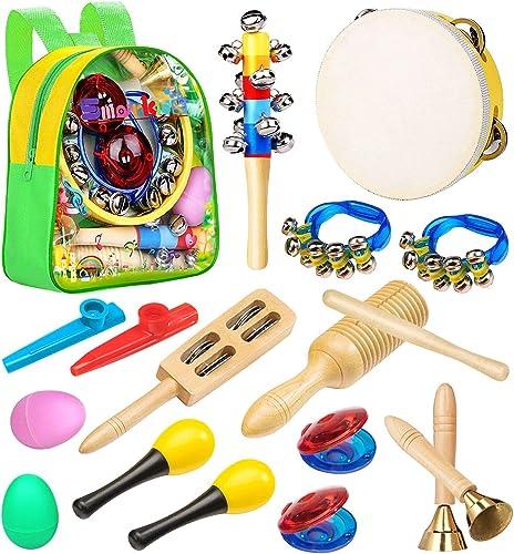 Smarkids Instruments de Musique pour Enfants, Instrument de musique bebe avec Tambourin Maracas Oeufs Shaker Jouets é...