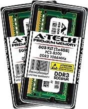 A-Tech 8GB Kit (2X 4GB) DDR3 1066MHz PC3-8500 204-pin SODIMM Laptop Notebook Computer Memory RAM Modules