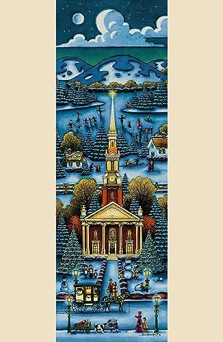 Dowdle Folk Art église Winter de 3008x 24Hauteur Puzzles