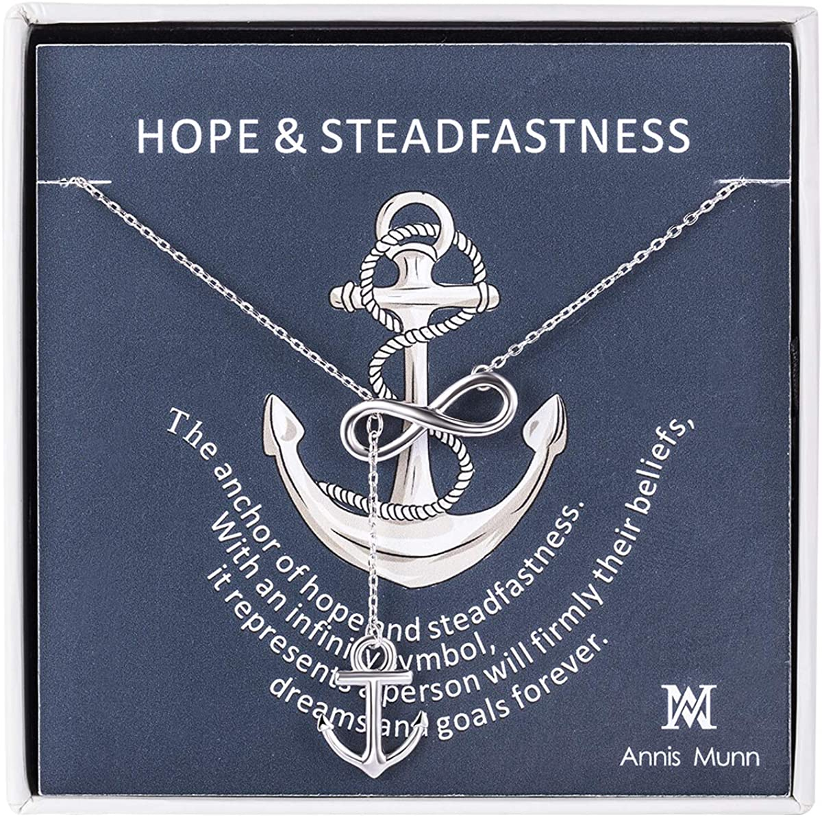 Annis Munn Anchor Infinity Mesa Mall Pendant 925 NEW before selling ☆ Women S Necklace Sterling