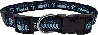 DOG COLLAR - NHL Seattle Kraken PET COLLAR, SIZE: Large. - A Cool, Cute, Fashionable, ADJUSTABLE, Durable Collar for DOGS ...