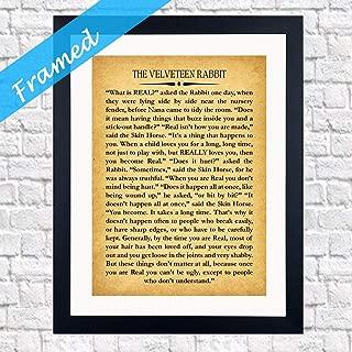 rcipsz259 Velveteen Rabbit Quote Framed Nursery Gift Nursery Room Framed Art Ready Framed Inspiring Gift