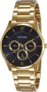 Citizen Men's Black Dial Stainless Steel Band Watch - AG8353-81E