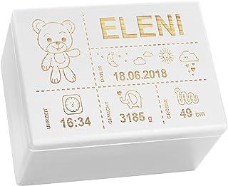 Erinnerungsbox Baby Erinnerungskiste Motiv Bär von HOBEA-Germany