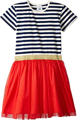 7f71604404 Toobydoo tulle dress w rugby stripe infant toddler little kids big ...