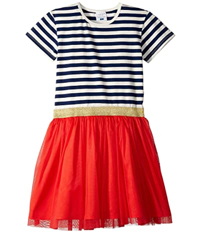 Toobydoo Tulle Party Dress (Toddler/Little Kids/Big Kids) (Navy Stripe 1) Girl