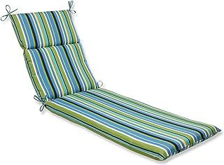 Pillow Perfect Outdoor Topanga Stripe Lagoon Chaise Lounge Cushion