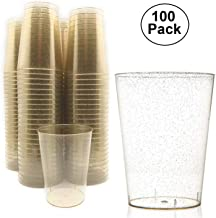 100 pc 10 Ounce Gold Glitter Disposable Plastic Cups 10 oz BPA-Free Durable Ideal for..