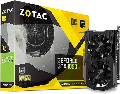 Zotac GeForce GTX 1050 Ti OC Edition ZT-P10510B-10L 4GB PCI Express Graphics Card product image