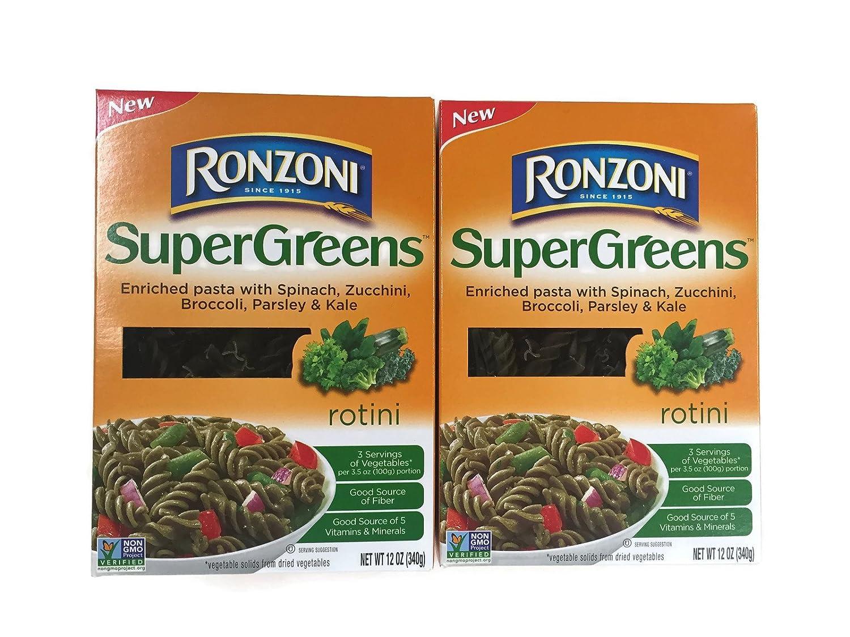Direct sale of manufacturer Ronzoni SuperGreens Rotini Pasta 12 Oz. Charlotte Mall Set of 2 Boxes