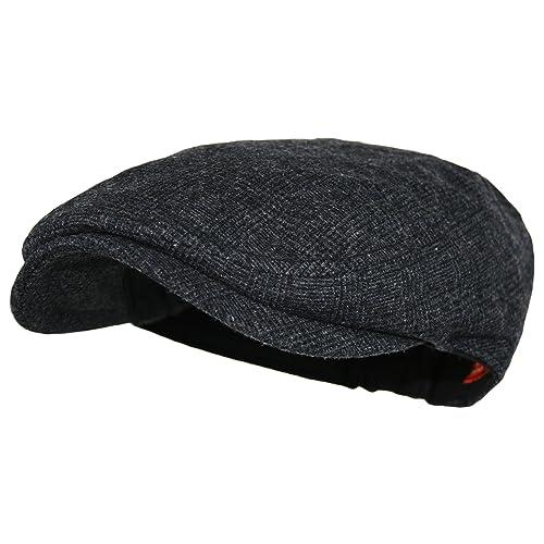 Wonderful Fashion Mens Herringbone Wool Tweed Newsboy IVY Cabbie Driving Hat