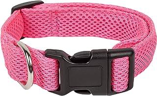 Pet Life ® 'Aero Mesh' 360 Degree Dual Sided Comfortable And Breathable Adjustable Mesh Dog Collar, Medium, Pink