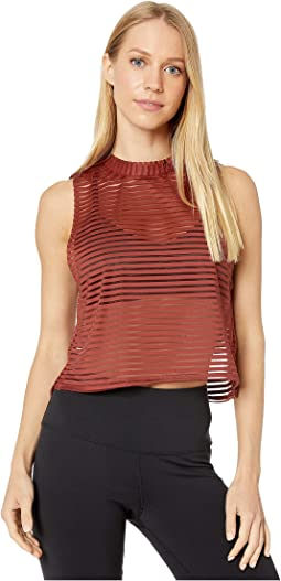 Warm Pinecone Stripe Mesh