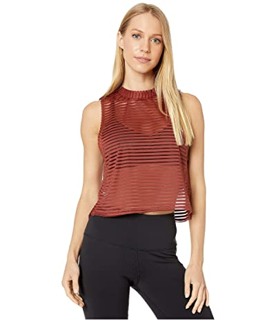 Onzie Edge Tank (Warm Pinecone Stripe Mesh) Women