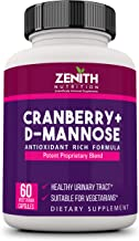 Zenith Nutrition Cranberry + D-Mannose - 60 Veg capsules   Antioxidant Support for Urinary Tract Health