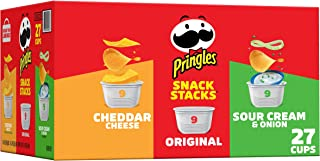 Pringles Snack Stacks Potato Crisps Chips, Flavored Variety Pack, Original, Cheddar Cheese, Sour Cream and Onion, 19.3 oz...