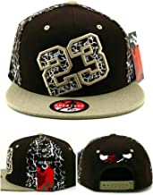 Greatest 23 Chicago New MJ Bull Head Crackle Cracked Cement Brown Tan Era Snapback Hat Cap