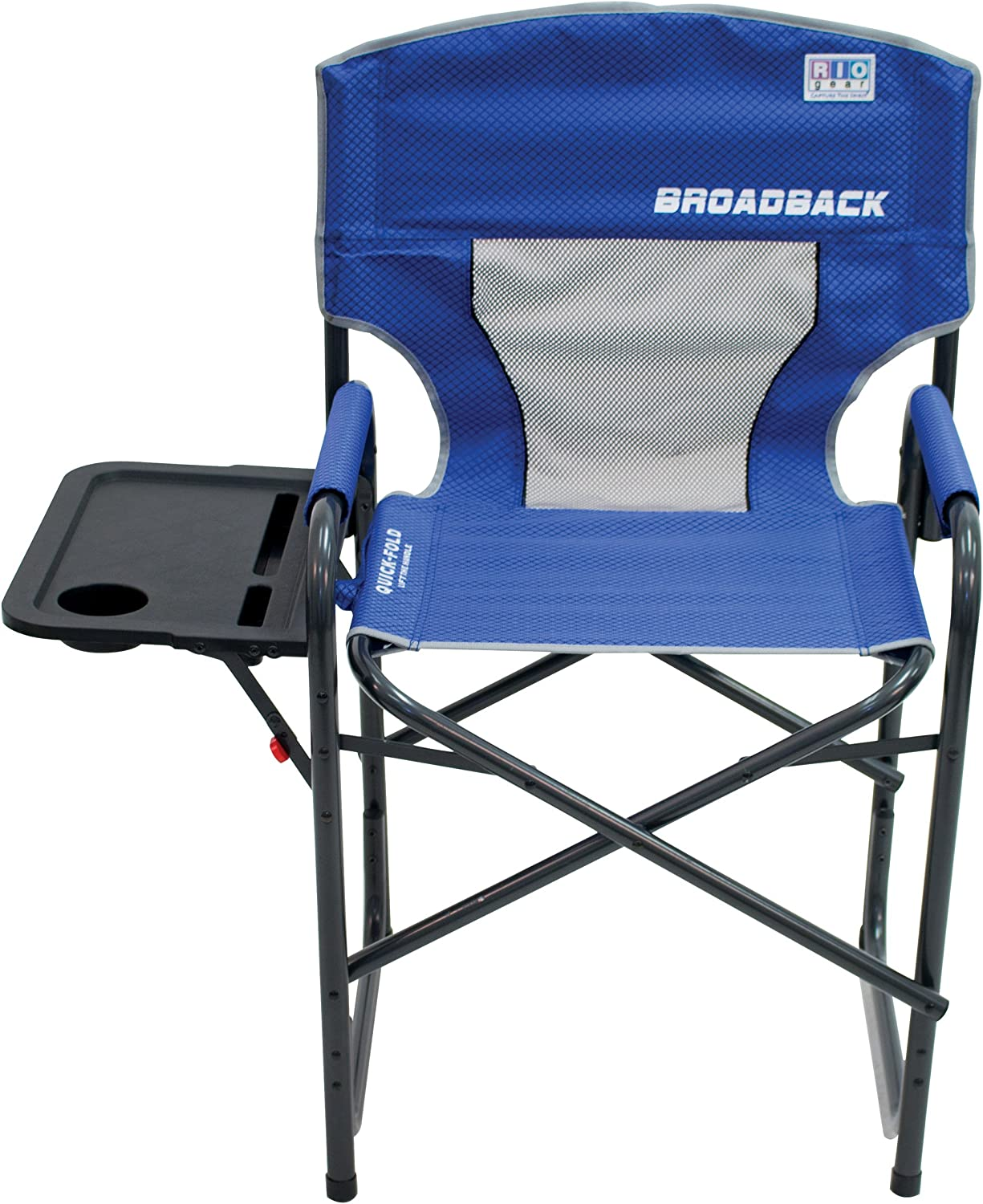 RIO Gear Outdoor Director's Folding Chair with Side Table for Camping
