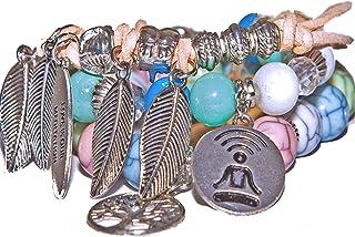 Unisex bracelet,3 set bracelets, Couples Meditation, distance, love bracelets, Mindfulness bracelet, Meditation set bracel...