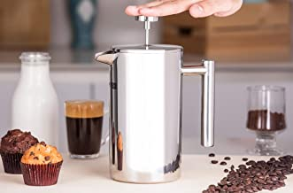RoyalFord RFU9015 Cafetiere Stainless Steel Portable French Press Coffee Maker | Leak Resistant Double Walled Insulation |...