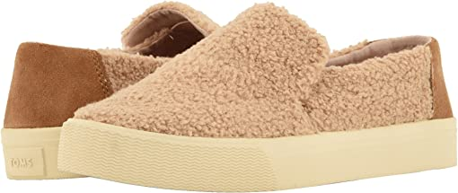 Light Brown Faux Shearling/Suede