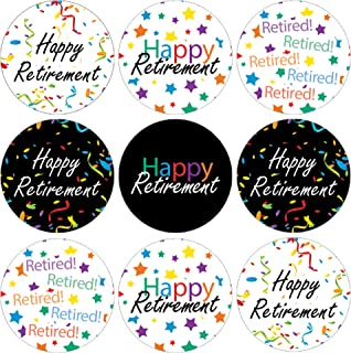 Happy Retirement Party Favor Stickers - 180 Labels