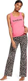 bebe Womens Tank Top and Pajama Pants Lounge Sleepwear Set
