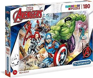 Clementoni- The Avengers Marvel Clementoni-29295-Supercolor Collection Avengers-180 pièces, 29295, Multicolore, 180 Pezzi