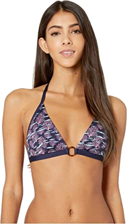 Coral and Fish Flechett Bikini Top