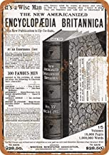 Baoku Metal Sign 1903 Encyclopedia Britannica 8x12 Inch Retro Decor Tin Signs Bar, Cafe, Art, House Wall Decoration